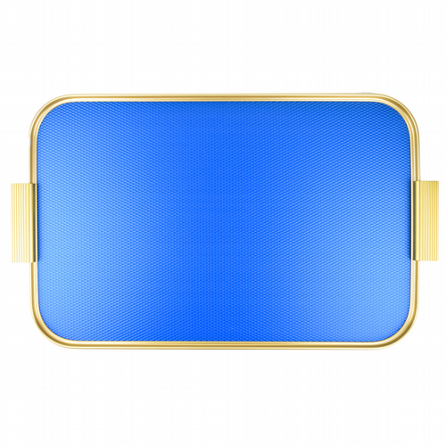 Kaymet Tray - Diamond Blue & Gold